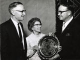 President James Staples (right) honors Mr. & Mrs. U. R.