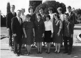 Hermanos en Cristo. Row 1, L-R: Mr. Neely, Bettie Wann, Donna Anderson, Marilyn Beaird, Elizabeth Blackman, Claude...